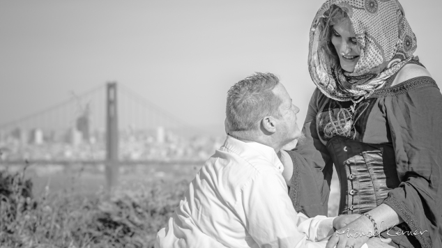 marin headlands engagement photos